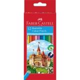 Creioane Colorate Eco 12 culori/set Faber-Castell