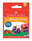 Plastilina 10 culori 90 g Faber-Castell