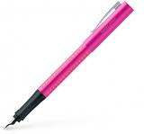 Stilou Grip 2010, penita F, roz-portocaliu Faber-Castell