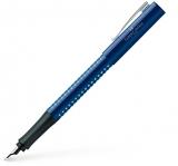 Stilou Grip 2010, penita F, albastru-bleu Faber-Castell