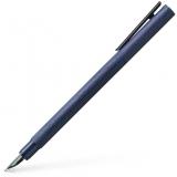 Stilou Neo Slim Aluminium albastru, penita F, Faber-Castell