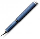 Stilou Essentio Aluminium Blue, penita F, Faber-Castell