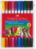 Carioci 10 culori 2 capete Faber-Castell