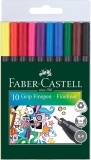 Liner 0.4 mm Grip 10 culori/set Faber-Castell