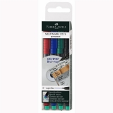 Set 4 culori Marker Permanent S Multimark Faber-Castell