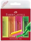 Set 4 culori Textmarker Superfluorescent 1546 Faber-Castell