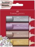 Textmarker culori metalizate, 4 buc/set, Faber-Castell