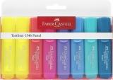 Textmarker set 6 Pastel + 2 galben 1546 Faber-Castell