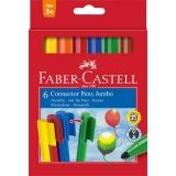 Carioca Connector Jumbo 6 culori Faber-Castell