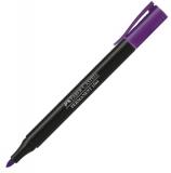 Marker permanent slim, culoare violet Faber-Castell