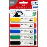 Marker Textil Standard 5 buc/set Faber-Castell