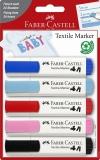 Markere Textile 5 culori/set Faber-Castell