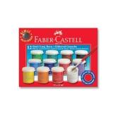 Guase Metalizate, 12 culori/set, 15 ml, Faber-Castell