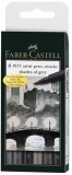 Brush Pen Pitt Artist Shades of Grey 6 buc/set Faber-Castell