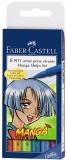 Marker caligrafic Pitt Artist Pen Manga Shojo 6 buc/set Faber-Castell