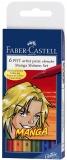 Marker caligrafic Pitt Artist Pen Manga Shonen 6 buc/set Faber-Castell