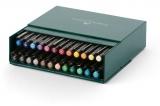 Marker caligrafic Pitt Artist Pen Cutie Studio 24 buc/set Faber-Castell