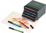 Marker caligrafic Pitt Artist Pen Cutie Studio 60 buc/set Faber-Castell