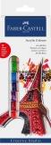 Acuarele culori acrilice 12 culori 12 ml Faber-Castell