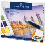 Acuarele si pensula cu rezervor Creative Studio, 24 culori/set Faber-Castell