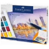 Acuarele si pensula cu rezervor Creative Studio, 36 culori/set Faber-Castell