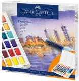 Acuarele si pensula cu rezervor Creative Studio, 48 culori/set Faber-Castell