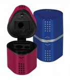 Ascutitoare tripla grip 2001 rosie/albastra Faber-Castell