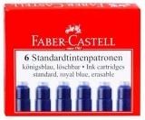 Cartuse cerneala mici albastre 6 bucati/set Faber-Castell