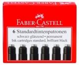 Cartuse cerneala mici negre 6 bucati/set Faber-Castell