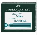 Patroane cerneala mici turcoaz 6 bucati/cutie Faber-Castell