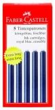 Patroane cerneala mari albastre 5 bucati/set Faber-Castell