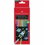 Creioane colorate metalizate 10 buc/set Faber-Castell