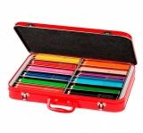 Cutie metal 144 creioane colorate Jumbo Grip Faber-Castell