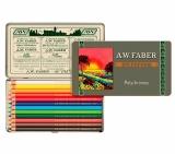 Creioane colorate 111 Ani Polychromos 12 culori/set Faber-Castell