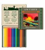 Creioane colorate 111 Ani Polychromos 24 culori/set Faber-Castell