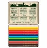 Creioane colorate scurte 111 Ani Polychromos 12 culori/set Faber-Castell