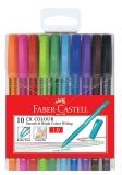 Roller 1 mm Gel Cx Colour, 10 buc/set Faber-Castell