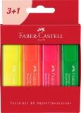 Textmarker Set 4 culori Superfluorescent 1546 cutie carton Faber-Castell
