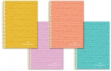 Caiet spira A4, 100 file, matematica, culori pastel Faber-Castell