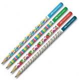 Creion grafit HB fara guma Bubbles diverse modele Faber-Castell