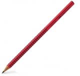 Creion grafit B Grip 2001 Special rosu Faber-Castell