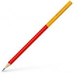 Creion grafit B Grip 2001 Two Tone rosu Faber-Castell