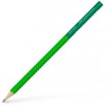 Creion grafit B Grip 2001 Two Tone verde Faber-Castell