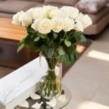 Cutie trandafiri, 11 fire, albi