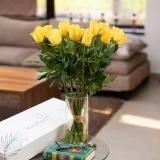 Cutie trandafiri, 11 fire, galbeni