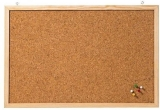 Panou de pluta cu rama din lemn 60 x 40 cm Franken