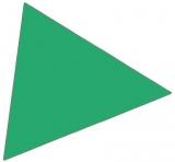 Magnet simbol triunghi verde 20 x 20 mm 49 bucati Franken