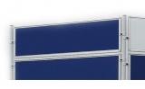 Perete despartitor Eco 120 x 30 cm  fetru albastru Franken