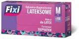 Manusi latex, pudrate, marimea M, 100 buc/set Fixi