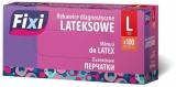 Manusi latex, pudrate, marimea L, 100 buc/set Fixi